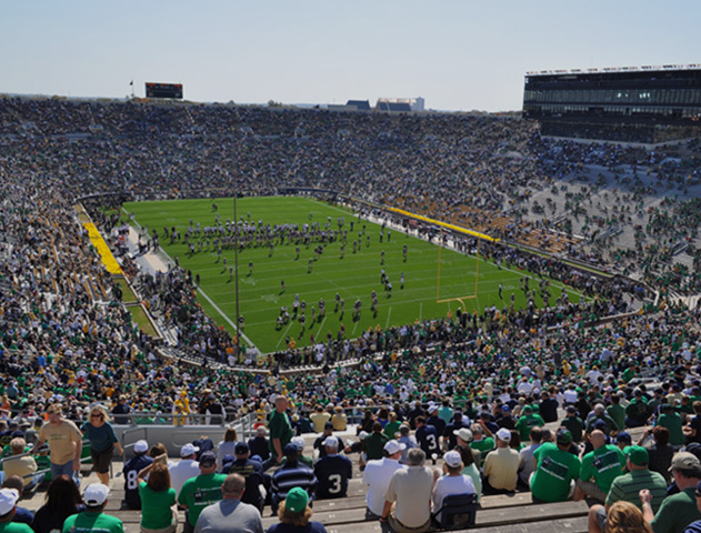 Notre Dame Game Packages