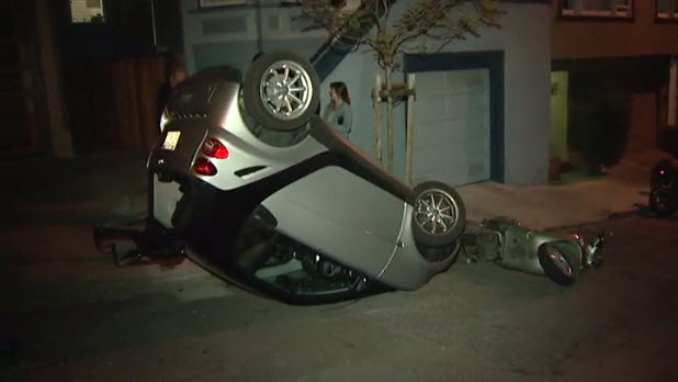 Smart Cars Are Flipping In San